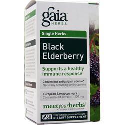 Gaia Herbs Single Herbs - Black Elderberry 60 vcaps