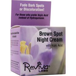 REVIVA LABS Brown Spot Night Cream with Kojic Acid 1 oz