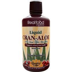 COUNTRY LIFE Realfood Organics - Liquid Cran-Aloe 32 fl.oz