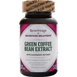 RESERVEAGE ORGANICS Green Coffee Bean Extract with Raspberry Ketones 60 vcaps