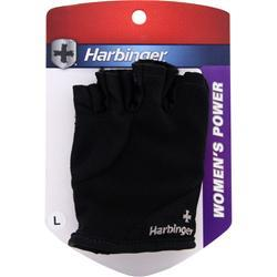 Harbinger Women's Power Series Gloves Black (L) 2 glove