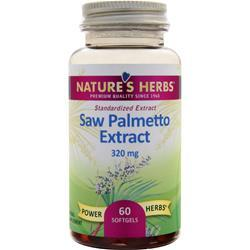 Nature's Herbs Saw Palmetto Power - Standardized Extract 60 sgels