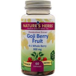 NATURE'S HERBS Power-Herbs Goji Berry Fruit 60 caps