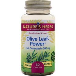 Nature's Herbs Olive Leaf Power - Standardized Extract 30 caps