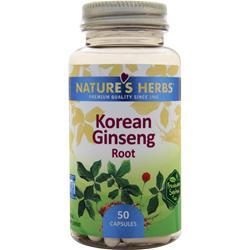 Nature's Herbs Korean Ginseng Root 50 caps