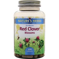 NATURE'S HERBS Red Clover Blossoms 100 caps