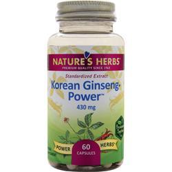 Nature's Herbs Power-Herbs Korean Ginseng Power Herb 60 caps