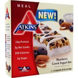ATKINS Meal Bar Blueberry Greek Yogurt 5 bars