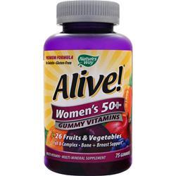 NATURE'S WAY Alive!  - Women's 50+ Gummy Vitamins 75 gummy