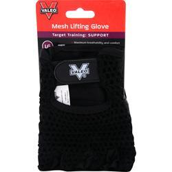 Valeo Mesh Lifting Gloves Black (M) 2 glove