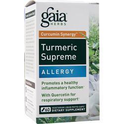Gaia Herbs Curcumin Synergy Turmeric Supreme - Allergy 60 vcaps
