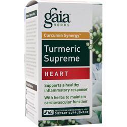 GAIA HERBS Curcumin Synergy Turmeric Supreme - Heart 60 vcaps