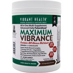 VIBRANT HEALTH Maximum Vibrance Chocolate 800 grams