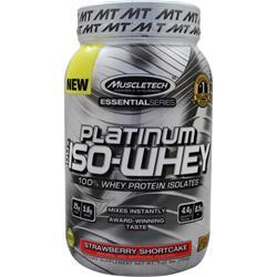 MUSCLETECH Essential Series - Platinum 100% Iso Whey Strawberry Shortcake 1.75 lbs