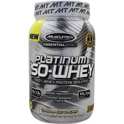 MUSCLETECH Essential Series - Platinum 100% Iso Whey Vanilla Ice Cream 1.76 lbs