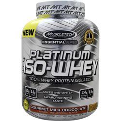 Muscletech Essential Series - Platinum 100% Iso Whey Gourmet Milk Chocolate 3.34 lbs
