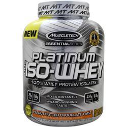 MUSCLETECH Essential Series - Platinum 100% Iso Whey Peanut Butter Chocolate 3.33 lbs