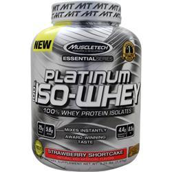 MUSCLETECH Essential Series - Platinum 100% Iso Whey Strawberry Shortcake 3.25 lbs