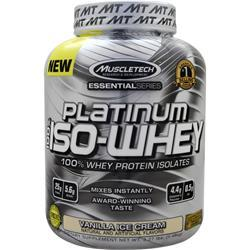 Muscletech Essential Series - Platinum 100% Iso Whey Vanilla Ice Cream 3.27 lbs