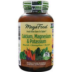 Megafood Calcium, Magnesium & Potassium 90 tabs
