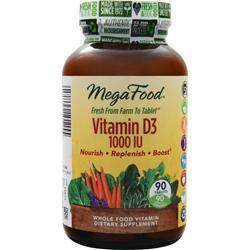 Megafood Vitamin D-3 (1000IU) 90 tabs