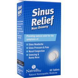 NATRABIO Sinus Relief - Non-Drowsy 60 tabs