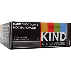 Peaceworks KIND Nuts and Spices Bar Dark Choc Mocha Almond 12 bars