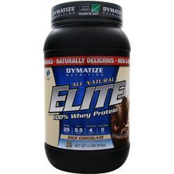 DYMATIZE NUTRITION Elite 100% Whey Protein - All Natural Rich Chocolate 2 lbs