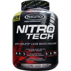 MUSCLETECH Nitro Tech with free T-Shirt Cookies and Cream 4 lbs