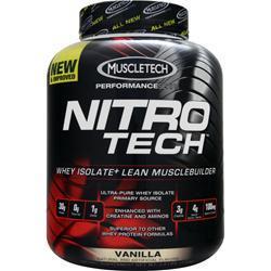 MUSCLETECH Nitro Tech with free T-Shirt Vanilla 4 lbs