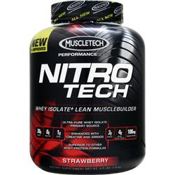 Muscletech Nitro Tech with free T-Shirt Strawberry 4 lbs