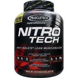 Muscletech Nitro Tech with free T-Shirt Milk Chocolate 4 lbs