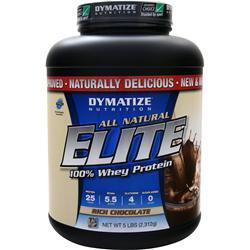DYMATIZE NUTRITION Elite 100% Whey Protein - All Natural Rich Chocolate 5 lbs