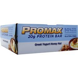 PROMAX Promax Energy Bar Greek Yogurt Honey Nut 12 bars