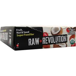 Raw Indulgence Raw Revolution - Organic Live Food Bar Cranberry Almond Coconut 12 bars