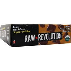 Raw Indulgence Raw Revolution - Organic Live Food Bar Chunky PB Choc 12 bars