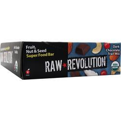 RAW INDULGENCE Raw Revolution - Organic Live Food Bar Dark Chocolate Trail Mix 12 bars