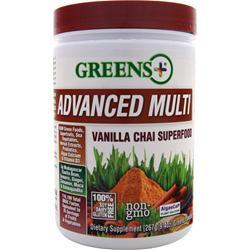 GREENS PLUS Advanced Multi Vanilla Chai Superfood 9.4 oz