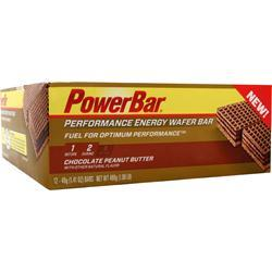 POWERBAR Performance Energy Wafer Bar Chocolate Peanut Butter 12 bars