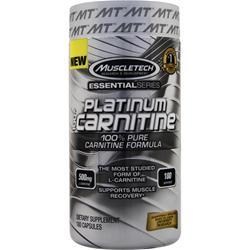Muscletech Essential Series - Platinum 100% Carnitine 180 caps