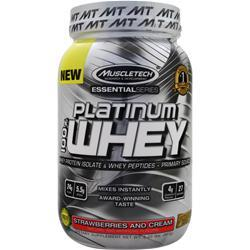 MUSCLETECH Essential Series - Platinum 100% Whey Strawberries and Cream 2 lbs
