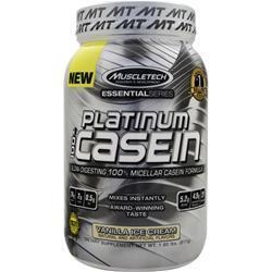 Muscletech Essential Series - Platinum 100% Casein Vanilla Ice Cream 1.8 lbs