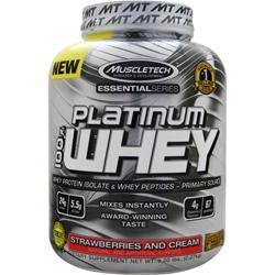 Muscletech Essential Series - Platinum 100% Whey Strawberries and Cream 5 lbs