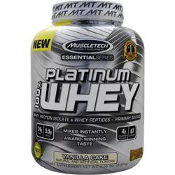 MUSCLETECH Essential Series - Platinum 100% Whey Vanilla Cake 5 lbs