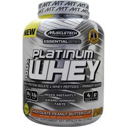 MUSCLETECH Essential Series - Platinum 100% Whey Chocolate PB Cup 5.03 lbs