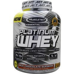 MUSCLETECH Essential Series - Platinum 100% Whey Milk Chocolate Supreme 5.03 lbs