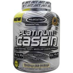 Muscletech Essential Series - Platinum 100% Casein Vanilla Ice Cream 3.66 lbs