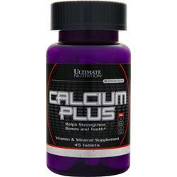 Ultimate Nutrition Calcium Plus  EXPIRES 3/16 45 tabs