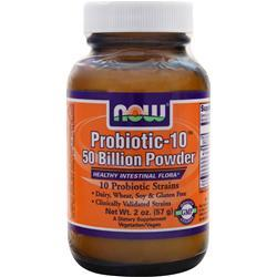 NOW Probiotic-10 50 Billion Powder 2 oz