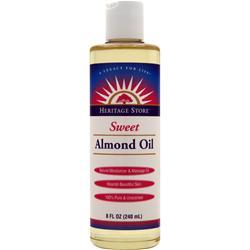 Heritage Products Sweet Almond Oil 8 fl.oz